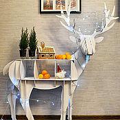 Для дома и интерьера ручной работы. Ярмарка Мастеров - ручная работа Стол-подставка Олень. Handmade.