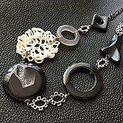 Украшения handmade. Livemaster - original item Necklace the Essence of the form. Natural stones, designer porcelain. Handmade.