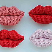 Украшения ручной работы. Ярмарка Мастеров - ручная работа Брошь губы. Handmade.