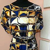 Платья ручной работы. Ярмарка Мастеров - ручная работа Платье штапель Принт восточный 36-62р -ры. Handmade.