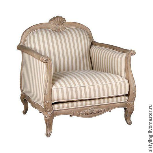 Мебель ручной работы. Ярмарка Мастеров - ручная работа. Купить Кресло прованс. Handmade. Серый, серо-бежевый, массив берёзы
