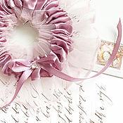 Свадебный салон ручной работы. Ярмарка Мастеров - ручная работа Воздушная подвязка невесты с нежной вуалью. Handmade.