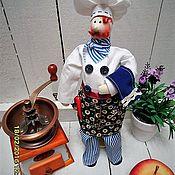 Куклы и игрушки ручной работы. Ярмарка Мастеров - ручная работа тильда - повар текстильный. Handmade.
