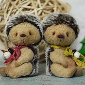 Куклы и игрушки ручной работы. Ярмарка Мастеров - ручная работа Ёжики Ухти и Тухти. Handmade.