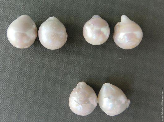 Жемчуг пара 17 мм для серег белый барочный натуральный бусины. Жемчужные бусины для колье, бусины из жемчуга фриформ для браслетов, бусина из жемчуга для серег.