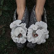 Обувь ручной работы. Ярмарка Мастеров - ручная работа Остроносые тапочки Гортензия. Handmade.