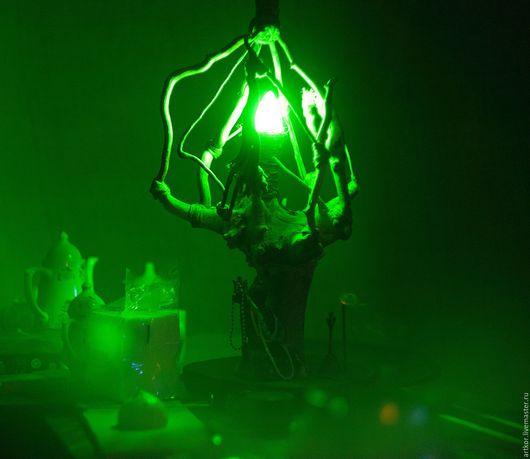 """Освещение ручной работы. Ярмарка Мастеров - ручная работа. Купить Настольный светильник из корня """" Жизнь есть!"""". Handmade."""