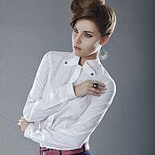 Одежда ручной работы. Ярмарка Мастеров - ручная работа Блуза хлопок жаккардовый. Handmade.