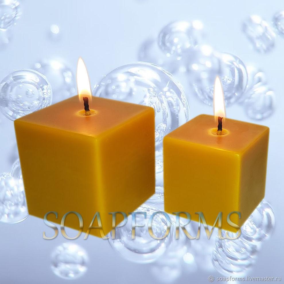 """Силиконовая форма для свечей """"Куб 5х5х5 см; 6х6х6 см"""", Формы для свечей, Москва,  Фото №1"""
