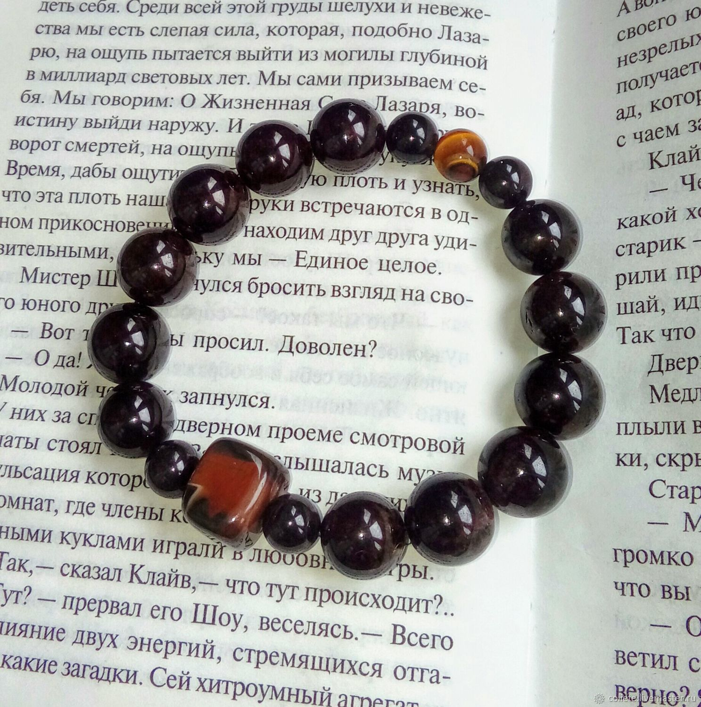 Bracelet of garnet, sardonyx and tiger's eye 'is a Good choice', Bead bracelet, Moscow,  Фото №1