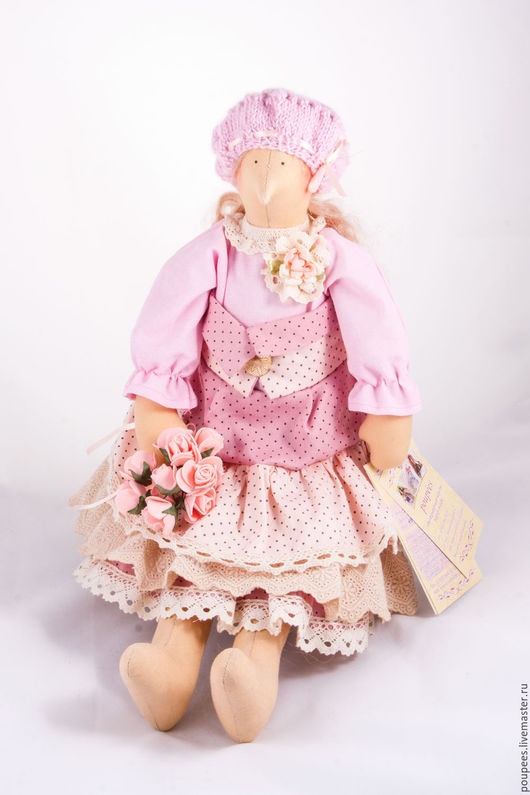 Кукла Тильда Марта цветочница сплюшка