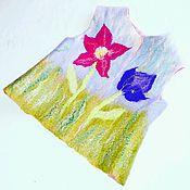 Работы для детей, ручной работы. Ярмарка Мастеров - ручная работа Жилет валяный двусторонний. Handmade.