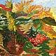 Картина маслом на холсте `Осенний букет`.  Размер 35*50 см. Автор Дубровина Ольга.