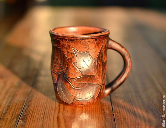 Кружки и чашки ручной работы. Ярмарка Мастеров - ручная работа. Купить Керамическая кружка Лесная тропа глиняная чашка. Handmade.