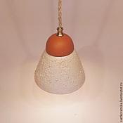 Для дома и интерьера ручной работы. Ярмарка Мастеров - ручная работа Керамический светильник «Песчаный колокольчик». Handmade.