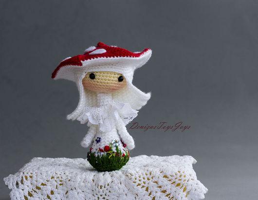 """Обучающие материалы ручной работы. Ярмарка Мастеров - ручная работа. Купить Kрючковый Мастер-класс """"Маленькая куколка Amanita muscaria Tanoshi"""". Handmade."""