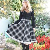 Одежда handmade. Livemaster - original item Warm MIDI skirt
