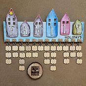 Для дома и интерьера ручной работы. Ярмарка Мастеров - ручная работа Семейный календарь.. Handmade.