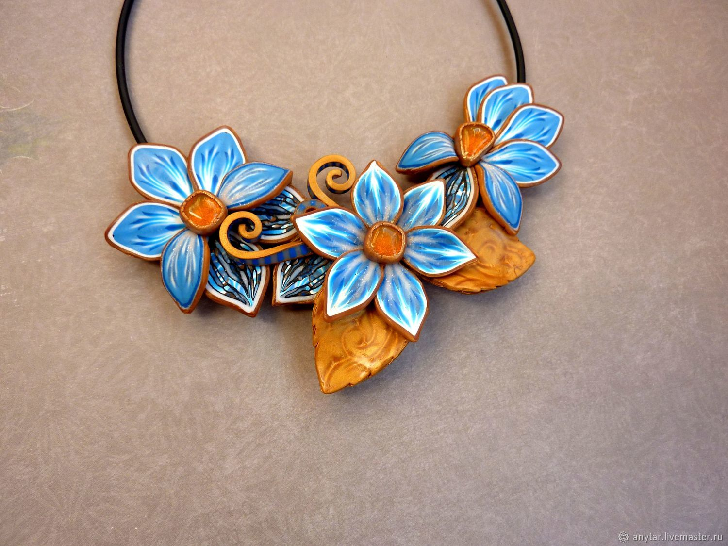 A beautiful pendant made of polymer clay will be an excellent decoration or souvenir for memory