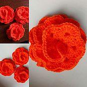 Цветы и флористика handmade. Livemaster - original item Flower thick knitted. Handmade.