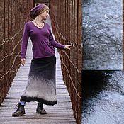 """Одежда ручной работы. Ярмарка Мастеров - ручная работа Войлочная юбка """"Зимний лес"""". Handmade."""