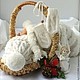 """Для новорожденных, ручной работы. Ярмарка Мастеров - ручная работа. Купить Комплект """"My angel"""" для новорожденного (шапочка и варежки). Handmade."""