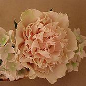 """Свадебный салон ручной работы. Ярмарка Мастеров - ручная работа Цветы для создания вашего образа """"Пион и гортензия"""". Handmade."""