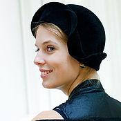 Аксессуары ручной работы. Ярмарка Мастеров - ручная работа шляпка «ретро велюр». Handmade.