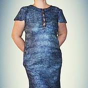 """Одежда ручной работы. Ярмарка Мастеров - ручная работа Скидка 30%! Платье валяное  """"Цвет лаванды"""" с коротким рукавом. Handmade."""