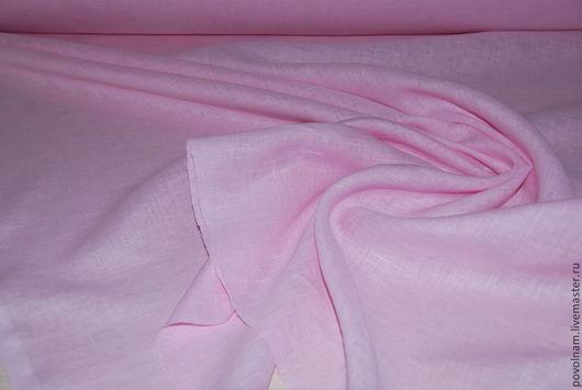 """Шитье ручной работы. Ярмарка Мастеров - ручная работа. Купить Лён 100% """"Нежно-розовый"""" умягчённый. Handmade. Бледно-розовый"""
