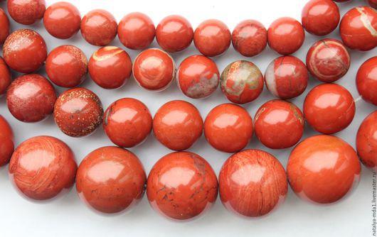 Для украшений ручной работы. Ярмарка Мастеров - ручная работа. Купить Яшма красная круглые бусины. Handmade. Коричневый