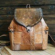 Сумки и аксессуары handmade. Livemaster - original item Backpack made of genuine leather, this boho