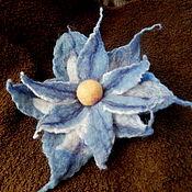 """Украшения ручной работы. Ярмарка Мастеров - ручная работа Брошь """"Голубой цветок"""". Handmade."""