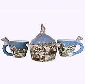 """Посуда ручной работы. Ярмарка Мастеров - ручная работа чайный комплект """"Зимний"""". Handmade."""