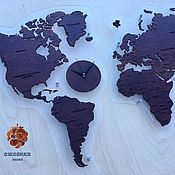Сувениры и подарки handmade. Livemaster - original item World Map. Handmade.