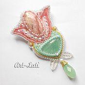 """Украшения handmade. Livemaster - original item Brooch-pendant """"Tulip"""". Handmade."""