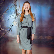 Одежда handmade. Livemaster - original item Dress office,goose foot, for the business woman. Handmade.
