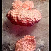Куклы и игрушки ручной работы. Ярмарка Мастеров - ручная работа вязаный крючком берет и шарфик.. Handmade.