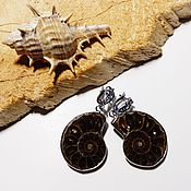 Украшения handmade. Livemaster - original item Earrings Ancient ocean Ammonite. Handmade.