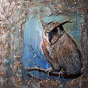 handmade. Livemaster - original item Panels: Panel picture acrylic MAGIC OWL. Handmade.