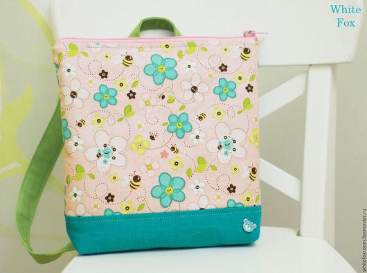 Рюкзаки ручной работы. Ярмарка Мастеров - ручная работа. Купить Детский льняной рюкзачок. Handmade. Бледно-розовый, хлопок, из льна