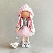 Куклы и игрушки handmade. Livemaster - original item Mila and piggy Textile doll handmade. Handmade.