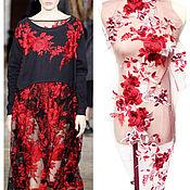 Материалы для творчества handmade. Livemaster - original item Lace embroidery Red Roses. Handmade.