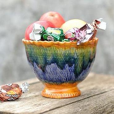 Посуда ручной работы. Ярмарка Мастеров - ручная работа Конфетница Ваза для фруктов Волшебная флейта. Handmade.