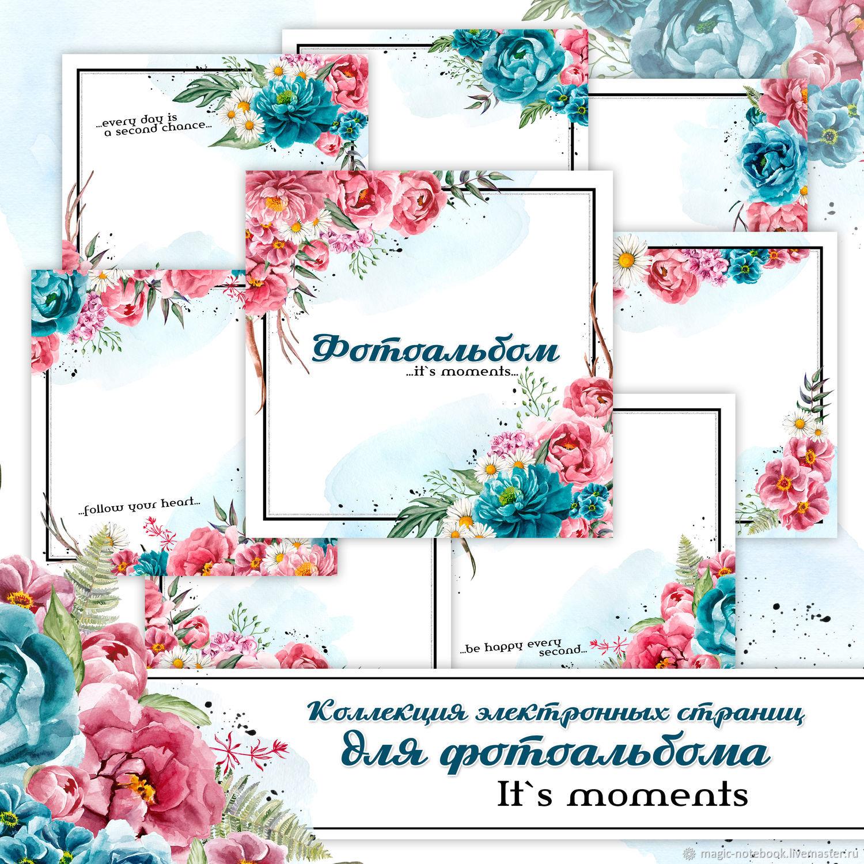 Коллекция электронных страничек для фотоальбома Its moments, Иллюстрации, Киров,  Фото №1
