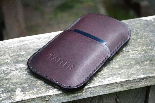 Для телефонов ручной работы. Ярмарка Мастеров - ручная работа. Купить Чехол для iPhone 5 6 Samsung Galaxy HTC Nokia Lumi из натуральной кожи. Handmade.