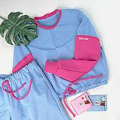 Одежда handmade. Livemaster - original item Footer Suit Sweatshirts Shorts women`s footer. Handmade.
