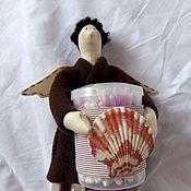 Куклы и игрушки ручной работы. Ярмарка Мастеров - ручная работа Банный ангел, хранительница ватных дисков и палочек. Handmade.