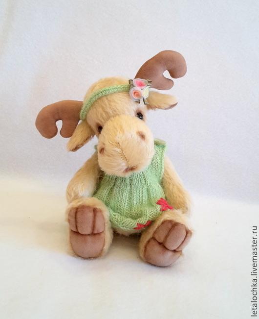 Мишки Тедди ручной работы. Ярмарка Мастеров - ручная работа. Купить Мелани. Handmade. Бежевый, лоси, авторская работа, миништофф