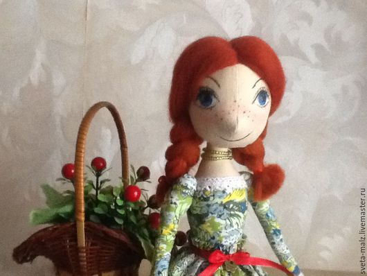 Коллекционные куклы ручной работы. Ярмарка Мастеров - ручная работа. Купить Марьянка. Handmade. Зеленый, подарок на день рождения